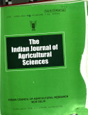 The Indian Journal of Agricultural Sciences