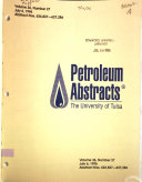Petroleum Abstracts Book