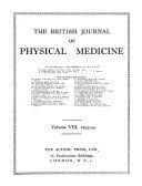 British Journal of Physical Medicine  1931 1943