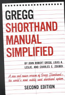 The GREGG Shorthand Manual Simplified