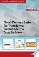 Novel Delivery Systems For Transdermal And Intradermal Drug Delivery Book