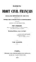 Élements du droit civil français