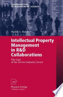 Intellectual Property Management in R&D Collaborations