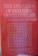The Dynamics of Behavior Development Book