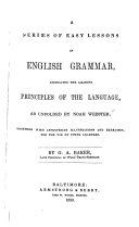 Series of Easy Lessons in English Grammar