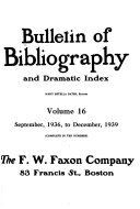 Bulletin Of Bibliography And Dramatic Index Book PDF