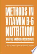 Methods in Vitamin B 6 Nutrition