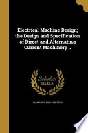 ELECTRICAL MACHINE DESIGN THE