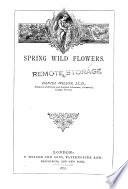 Spring Wild Flowers Book