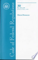 Code of Federal Regulations  Title 30  Mineral Resources  PT  200 699  Revised as of July 1  2010