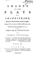 Pdf Twenty of the Plays of Shakespeare: The most excellent tragedie of Romeo and Iuliet. 1597. The most lamentable