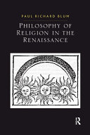 Philosophy of Religion in the Renaissance Pdf/ePub eBook