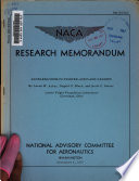 NACA Research Memorandum