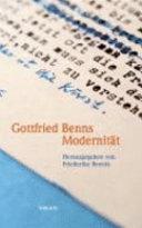 Gottfried Benns Modernität