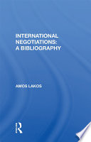 International Negotiations  A Bibliography