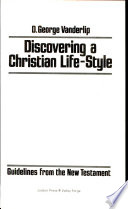 Discovering a Christian Life-style
