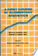 A First Course in Elementary Statistics