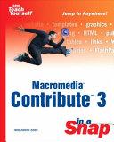 Macromedia Contribute 3 In A Snap