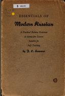 Essentials of Modern Russian