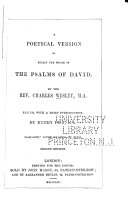 Pdf A Poetical Version of Nearly the Whole of the Psalms of David