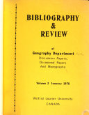 Bibliography Review Of Geography Department Discussion Papers Occasional Papers And Monographs