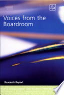 Voices from the Boardroom