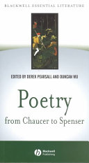 Poetry from Chaucer to Spenser