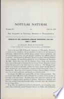 Results of the Carpenter African Expedition  1947 1948  Part I    Birds  Notulae Naturae of The Acad  of Natural Sciences of Phila   No  219