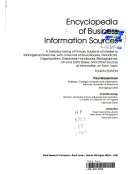 Encyclopedia Of Business Information Sources Book