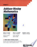 Addison-Wesley mathematics