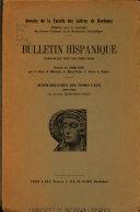 Bulletin hispanique Book PDF