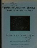 Sleep Bibliography Book