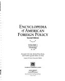 Encyclopedia Of American Foreign Policy Chronology A D Book PDF