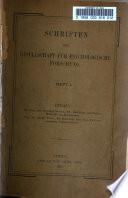 Schriften der Gesellschaft für psychologische Forschung
