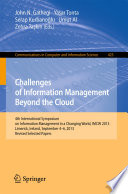 Challenges of Information Management Beyond the Cloud