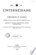 L'Intermédiaire des chercheurs & curieux