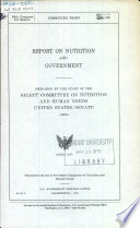 Report on Nutrition and Government