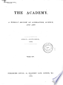 The Academy and Literature  , Volume 52;Volume 54