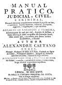 Manual pratico, judicial, civil e criminal, etc