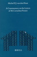 A Commentary on the Letters of M. Cornelius Fronto