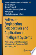 Software Engineering Perspectives and Application in Intelligent Systems
