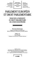 Parlement européen et droit parlementaire