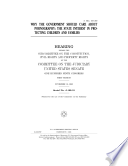 Why the government should care about pornography   the state interest in protecting children and families Book PDF