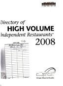 Directory of High-volume Independent Restaurants