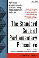 Pdf The Standard Code of Parliamentary Procedure, 4th Edition Telecharger