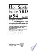 Hörspiele in der ARD.