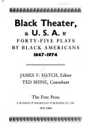 Pdf Black Theater, U.S.A.; Forty-five Plays by Black Americans, 1847-1974