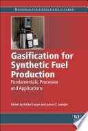 Gasification For Synthetic Fuel Production Book PDF