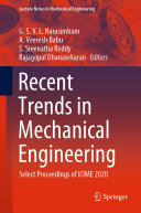 Recent Trends in Mechanical Engineering