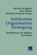 Institution Organisation Bewegung